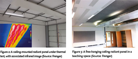 Figure 2 Shows A Free Hanging LTHW Radiant Heating Panel Under Test, With  Its Corresponding Infrared Thermal Image.