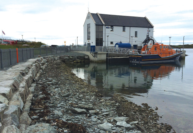 The RNLI uses surface water heat pumps