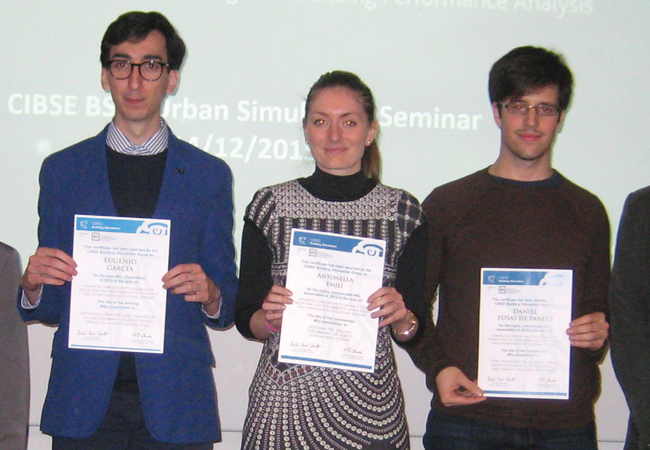 Winners of 2015 Building Simulation Group Student Prize