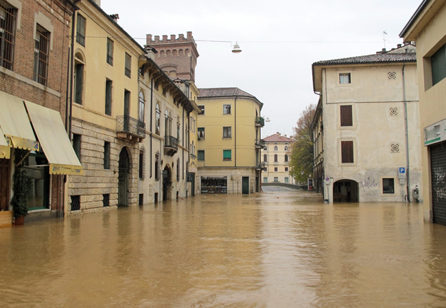 Flood waters in Italy