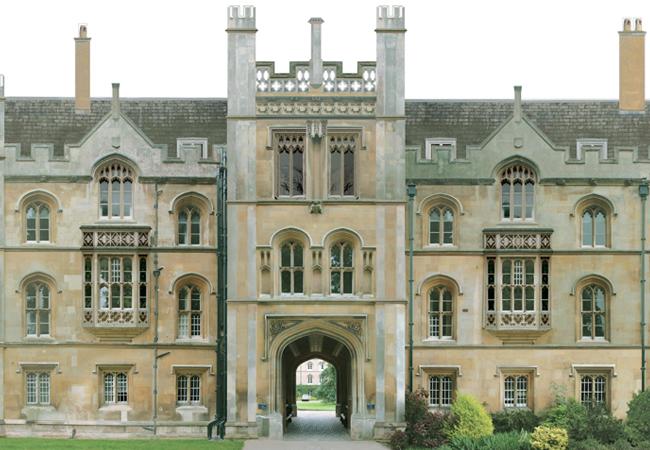 Stone facade of New Court, Trinity College