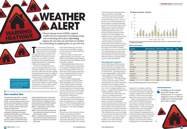 CIBSE Journal July 2016 Letters 'Weather alert' spread on p14