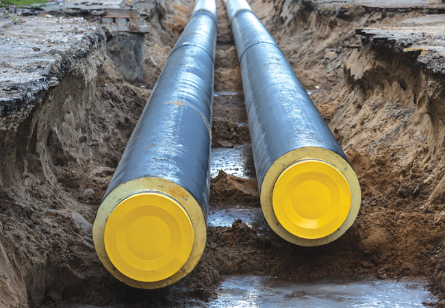 Heat network pipes