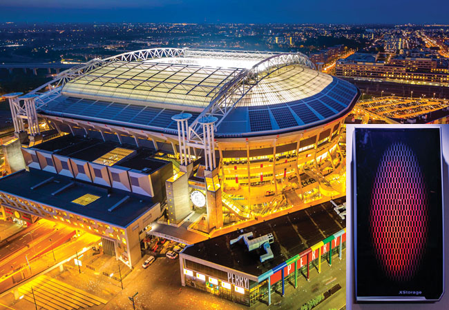 Amsterdam Arena and Xstorage battery
