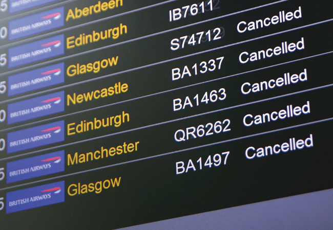 British Airways cancellations data centre power failure