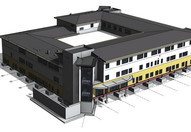 BIM model Wharfedale Hospital