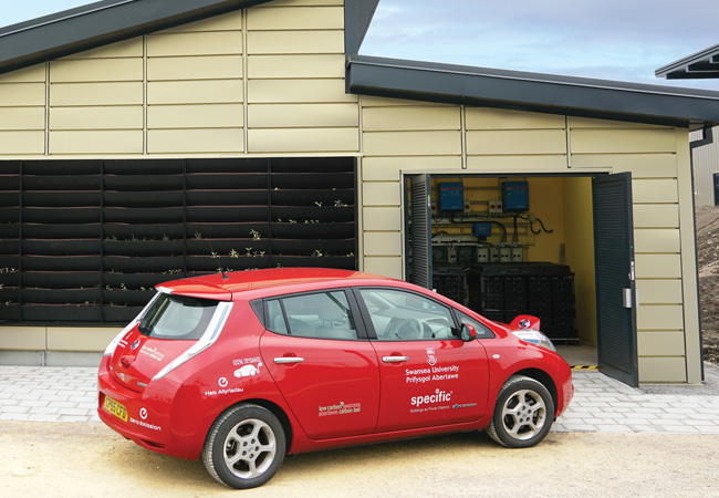 Car charging up at active classroom