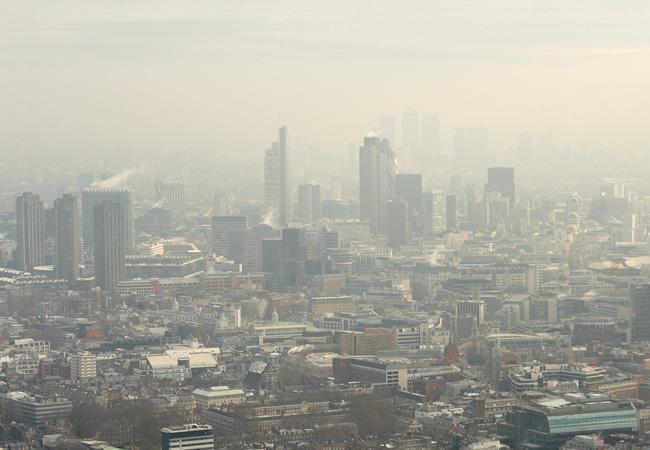 City smog fog