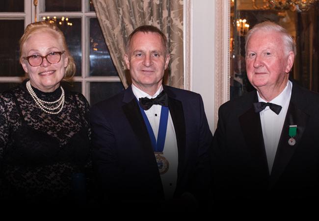 CIBSE President Stephen Lisk with Geraldine O'Farrell and Seamus Homan