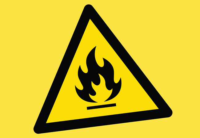 F-gas flammable sign
