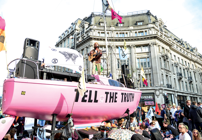 Extinction Rebellion boat