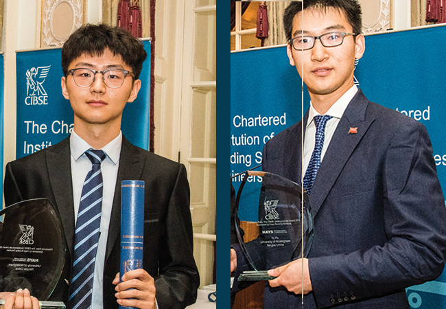 Winners of Hay's President prize at CIBSE Yu Fu
